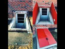 Basement Entrance & Exit Doors