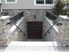 Beautiful Basement Door, Steps, and Stonework Project